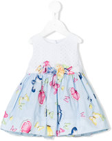 MonnaLisa butterfly print dress - kids - Cotton/Polyamide - 6 mth