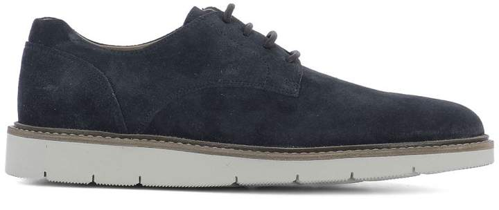 Hogan Blue Suede Lace-up