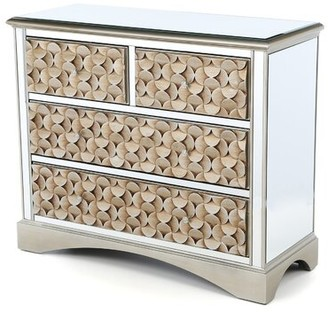 House of Hampton Sheila Mirrored 4 Drawer Chest House of Hampton