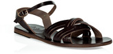 Ancient Greek Sandals Burnt Amber Electra Flat Sandals
