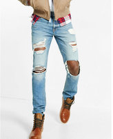Express Slim Fit Slim Leg Ripped Jeans