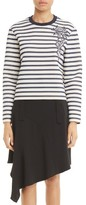 Carven Women's Stripe Cotton Sweatshirt