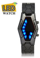 Next Men's New Fashion Inspired Red and Blue LED Wrist Watch JMW0037