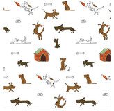 Minted Dogs will be dogs Self-Launch Wrapping Paper