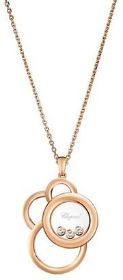 Chopard Happy Dreams Diamond & 18K Rose Gold Pendant Necklace
