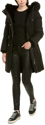 Mackage Anabel Leather-Trim Coat