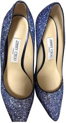 Jimmy Choo Romy Blue Glitter Heels