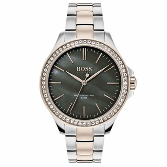 HUGO BOSS Womens Analogue Classic Quartz Watch with Stainless Steel Strap 1502452