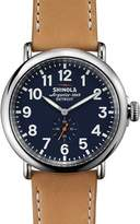 Shinola 47mm Runwell Leather Strap Watch