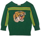 Gucci Children's sweater with tiger appliqué