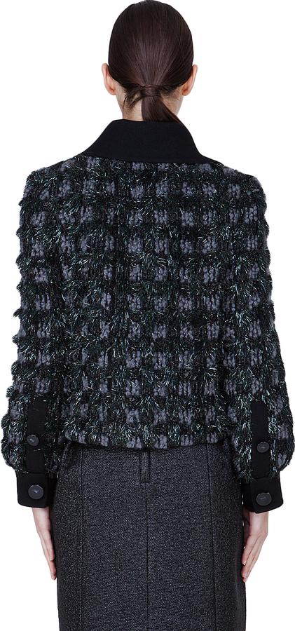 Marc Jacobs Charcoal Padded Wool Zuzanna Jacket