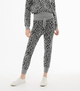 New Look Light Leopard Print Knit Joggers