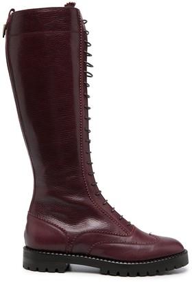 L'Autre Chose Leather Knee Boots