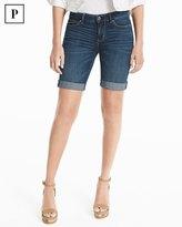 White House Black Market Petite 8-inch Bermuda Jean Shorts