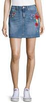 Highline Collective Embroidered Denim Mini Skirt