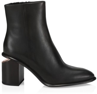 Alexander Wang Anna Rose Gold & Leather Ankle Boots