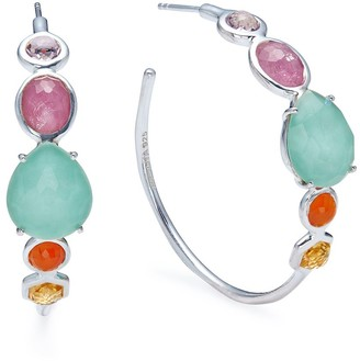 Ippolita Rock Candy multi-stone hoop earrings