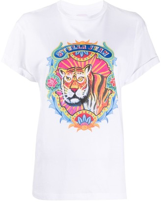 Stella Jean animal logo print T-shirt