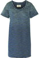 Current/Elliott The Slouchy Striped Cotton Mini Dress
