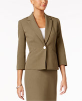 Kasper Single-Button Pleated Blazer, Regular & Petite