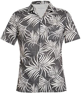 Officine Generale Dario Tropical-Print Shirt