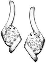 Sirena Diamond Drop Earrings in 14k White Gold (1/2 ct. t.w.)