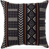 "Hotel Collection Global Stripe Embroidered 18"" Square Decorative Pillow, Created for Macy's Bedding"