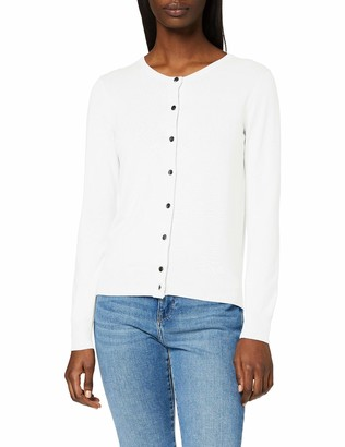 Dorothy Perkins Women's Ivory Button Through Cardigan Sweater 18
