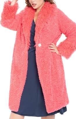 ELOQUII Drama Faux Fur Coat