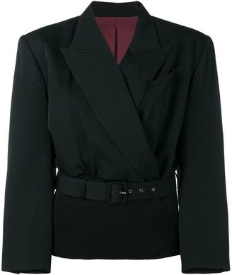 Jean Paul Gaultier Pre-Owned ribbed waist blazer