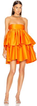 Rotate by Birger Christensen Carmina Dress in Persimmon Orange   FWRD