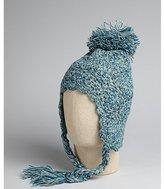 Free People spearmint loose knit tie neck pom pom hat