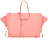 Balenciaga Papier A4 Zip Around Textured-leather Tote - Pink