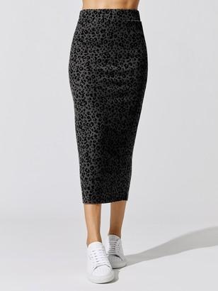 Carbon38 Leopard Ribbed Skirt