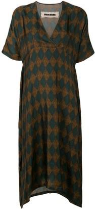 UMA WANG diamond-patterned midi dress