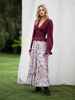 Diane von Furstenberg TVF Almond Satin-Blend Cropped Top
