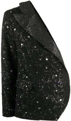 Loulou One-Shoulder Crystal Embellished Blazer