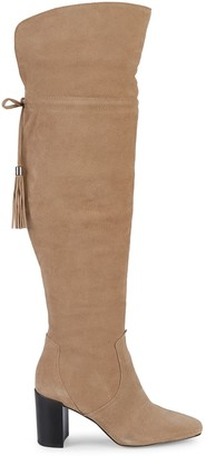 Karl Lagerfeld Paris Razo Over-The-Knee Suede Boots