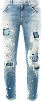 Faith Connexion distressed cropped jeans - women - Cotton/Spandex/Elastane - 25