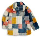 Stella McCartney Girl's Abbie Colorblock Faux Fur Jacket