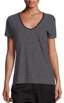 Vince Cotton Striped Tee