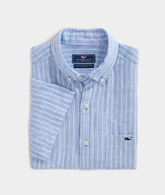 Vineyard Vines Big & Tall Classic Fit Crown Haven Short-Sleeve Tucker Button-Down Shirt