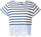 Sea striped top - women - Cotton - M