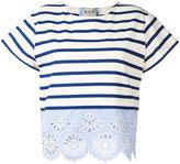 Sea striped top - women - Cotton - S