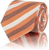 Brioni Men's Striped Linen-Silk Necktie