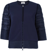 Moncler padded sleeve and trim cropped jacket - women - Polyamide - XS