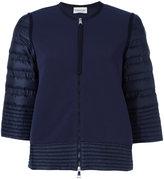 Moncler padded sleeve zip cardigan - women - Polyamide - S