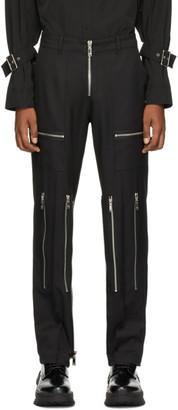 we11done Black Zipper Trousers