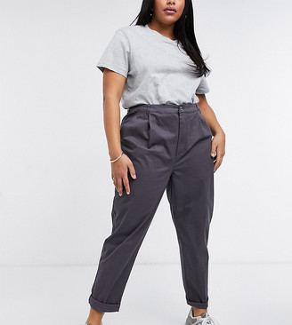 ASOS DESIGN Curve chino pants in charcoal