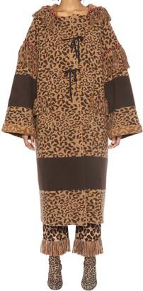 Alanui Leopard Print Overcoat